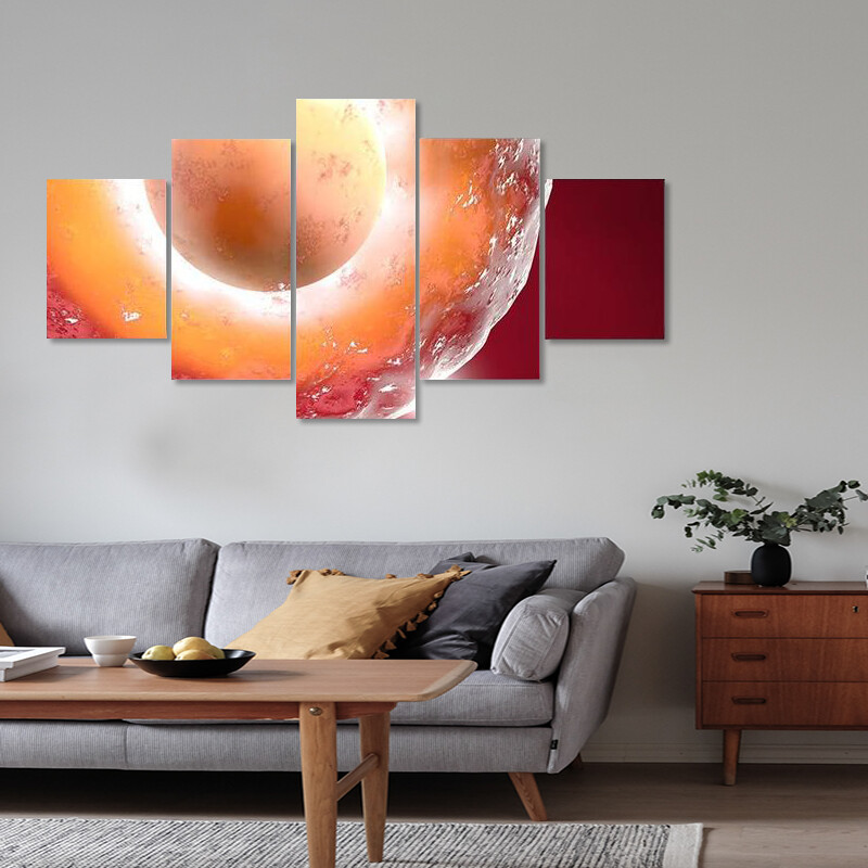 Conception Ovum And Sperm Multi Canvas Print Wall Art