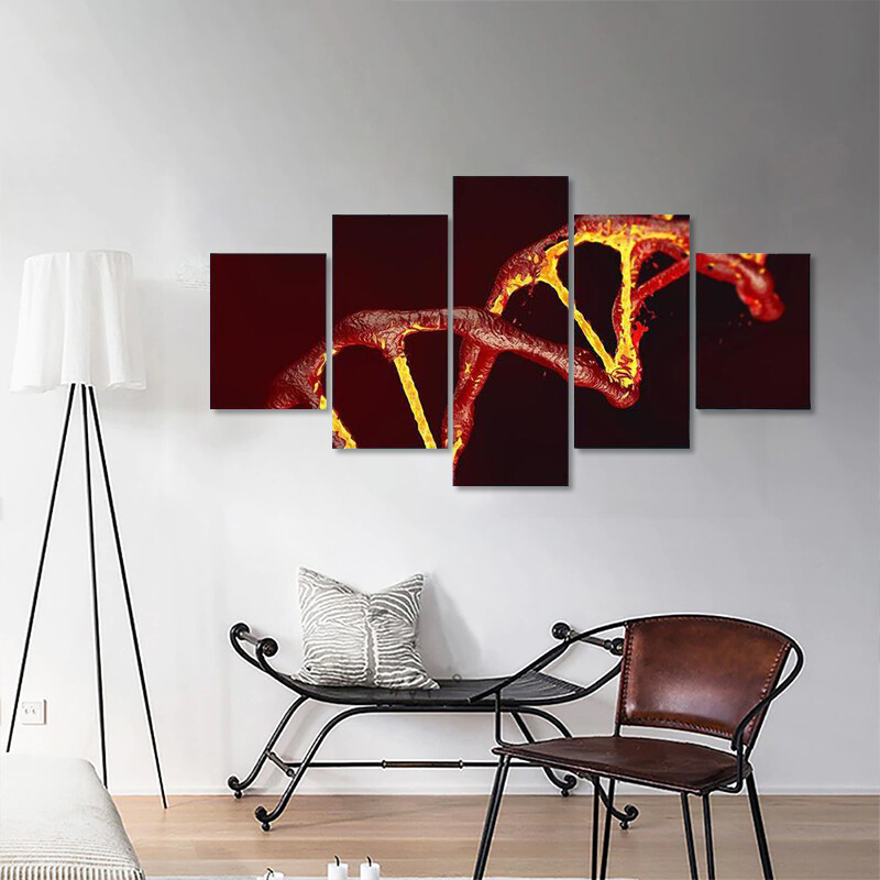 DNA Code Structure Multi Canvas Print Wall Art