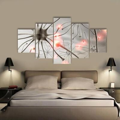 Hardwired Neurons Multi Canvas Print Wall Art