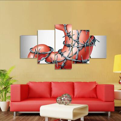 Human Digestive Organ Multi Canvas Print Wall Art