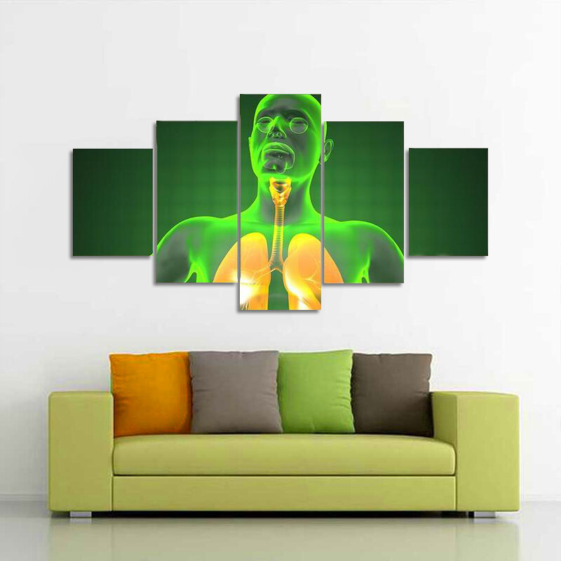 Human Chest Radiography Multi Canvas Print Wall Art