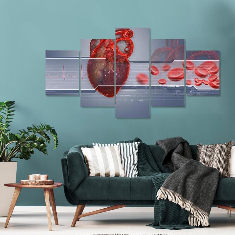 Human Heart Multi Canvas Print Wall Art