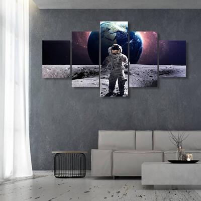Astronaut Spacewalk Multi Canvas Print Wall Art