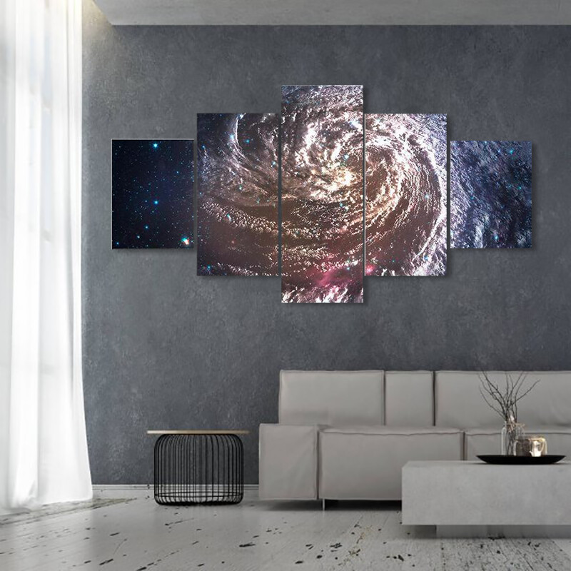 Beautiful Galaxy Space Multi Canvas Print Wall Art