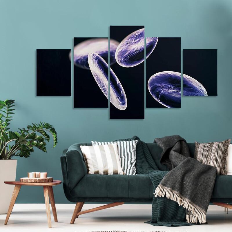 Lymphocyte White Blood Cells Multi Canvas Print Wall Art