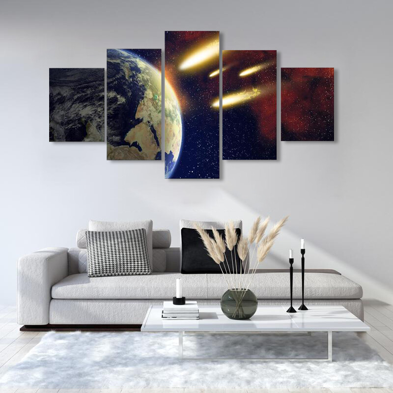 Big Comets Approching Multi Canvas Print Wall Art