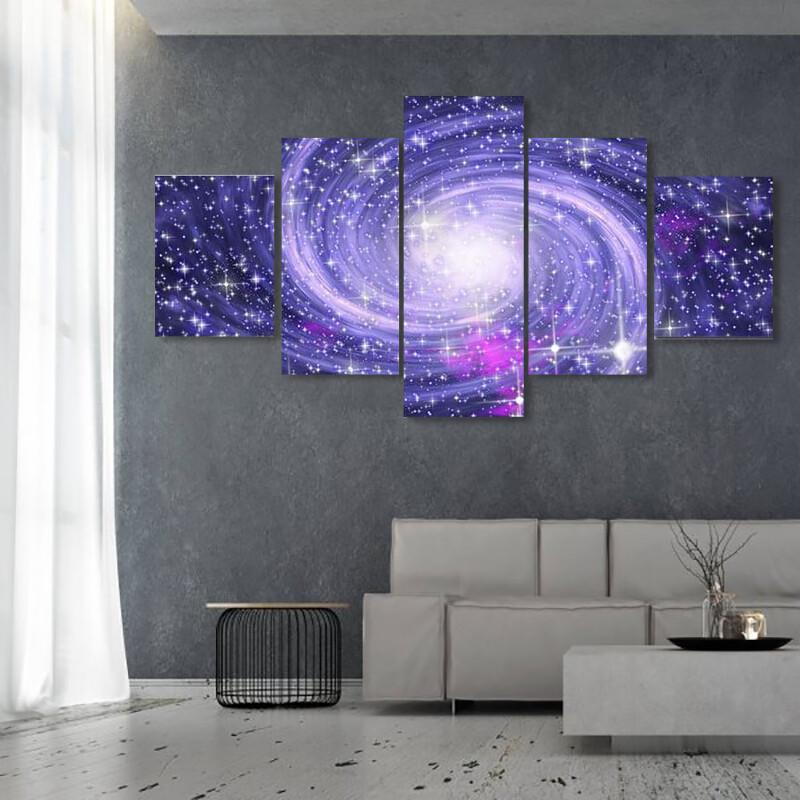 Big Spiral Galaxy Multi Canvas Print Wall Art