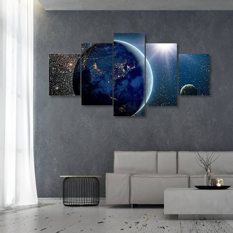 Beautiful View Of Earth Multi Canvas Print Wall Art