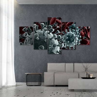 Microscope Virus Multi Canvas Print Wall Art