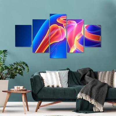 Shoulder Joint Anatomy Multi Canvas Print Wall Art