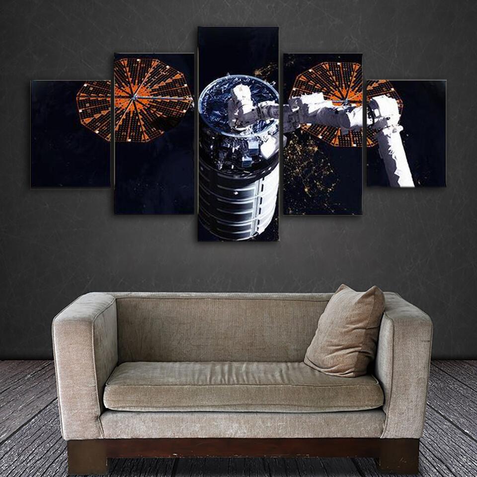 Cygnus Spacecraft In Open Space Multi Canvas Print Wall Art