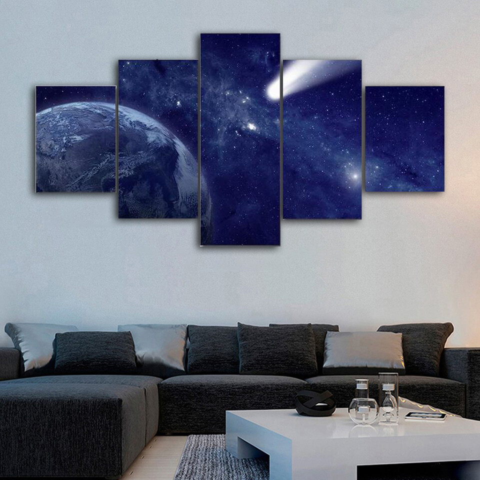 Comet Approaching Earth Multi Canvas Print Wall Art