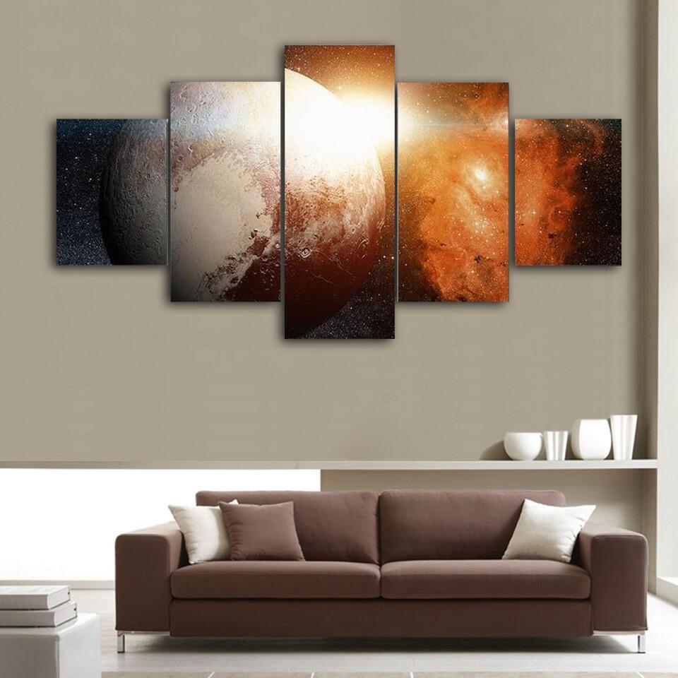 Dwarf Planet Pluto Multi Canvas Print Wall Art