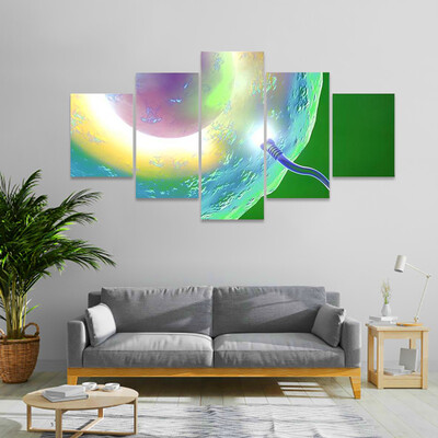 View Of Ovum And Sperm Multi Canvas Print Wall Art