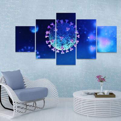 Virus Under The Microscope Multi Canvas Print Wall Art