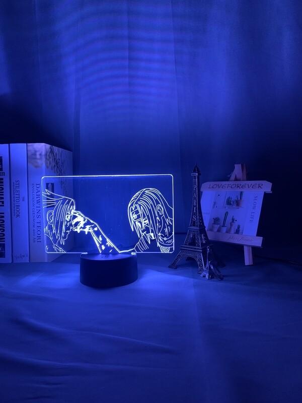 Anime Lamp Naruto Sasuke and Itachi Uchiha 3D Night Light Table Lamp
