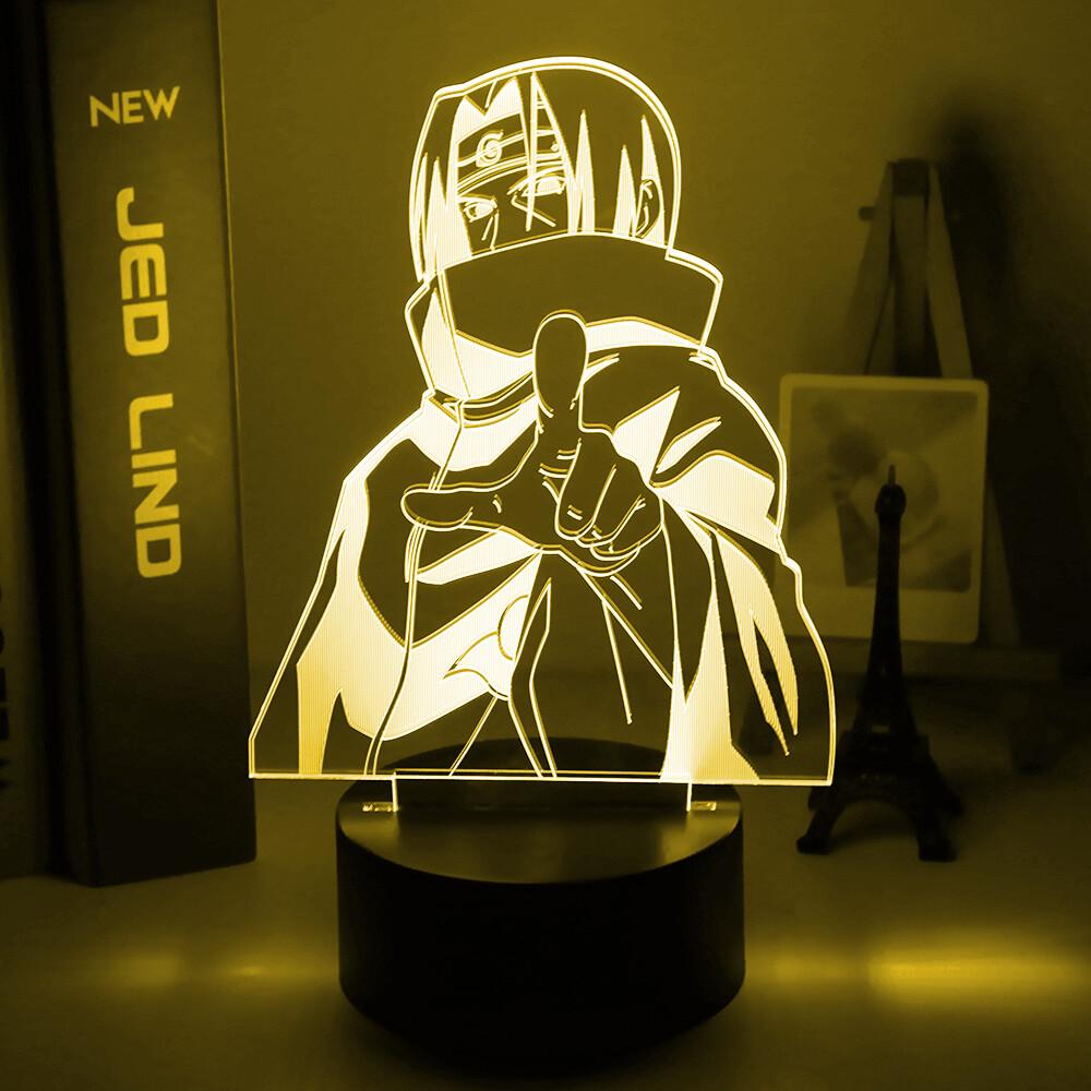 Anime Naruto Itachi Uchiha 3D Night Light Table Lamp