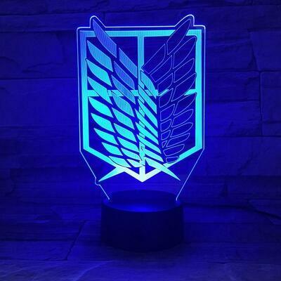 Attack On Titan Logo 3D Night Light Table Lamp