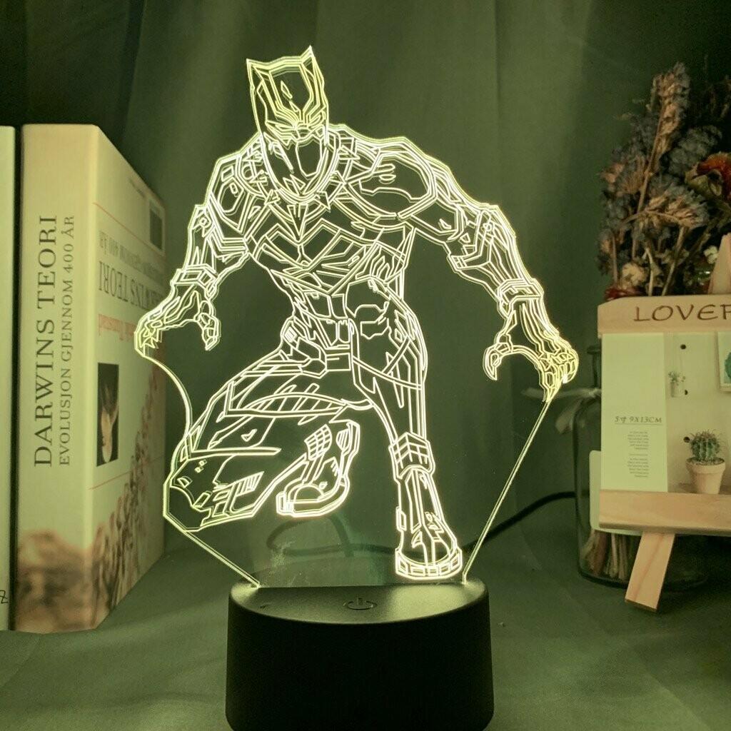 Black Panther 3D Night Light Table Lamp