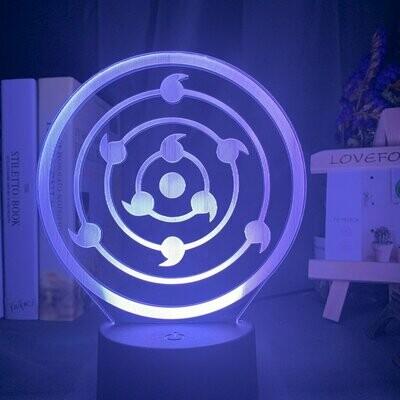 9 Tomoe Sharingan 3D Night Light Table Lamp