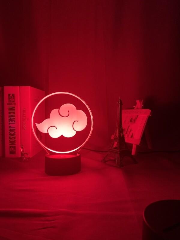 Anime Naruto Akatsuki 3D Night Light Table Lamp