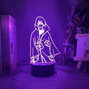 Akatsuki Itachi 3D Night Light Table Lamp