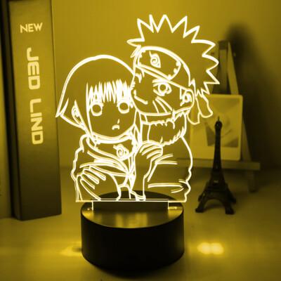 Girls Night Light Uzumaki Naruto and Hinata Hyuga 3D Night Light Table Lamp