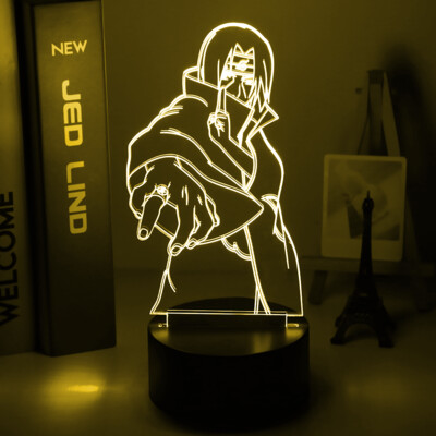 Itachi Uchiha Figure Naruto 3D Night Light Table Lamp