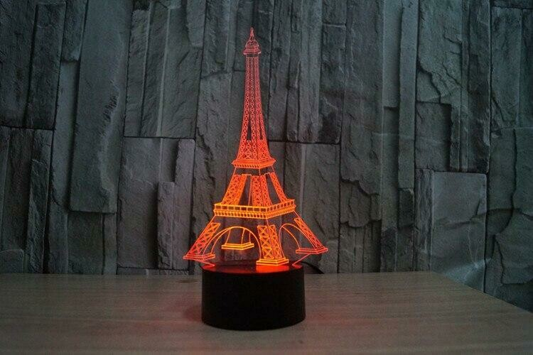 Eiffel Tower 3D Night Light Table Lamp