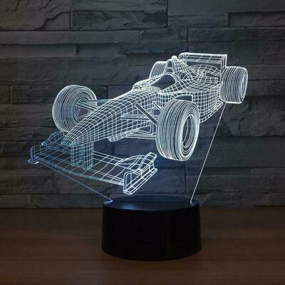 Formula One Car 3D Night Light Table Lamp