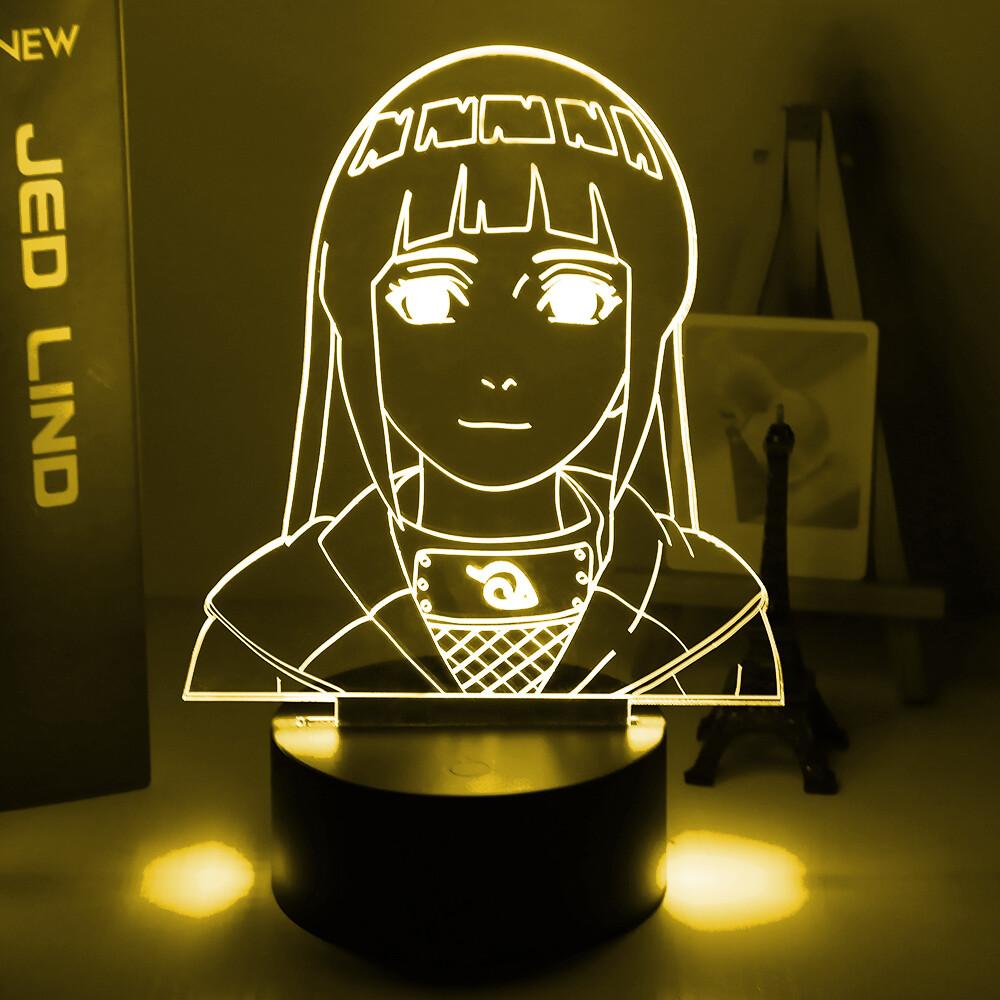 Naruto Hinata Hyuga 3D Night Light Table Lamp