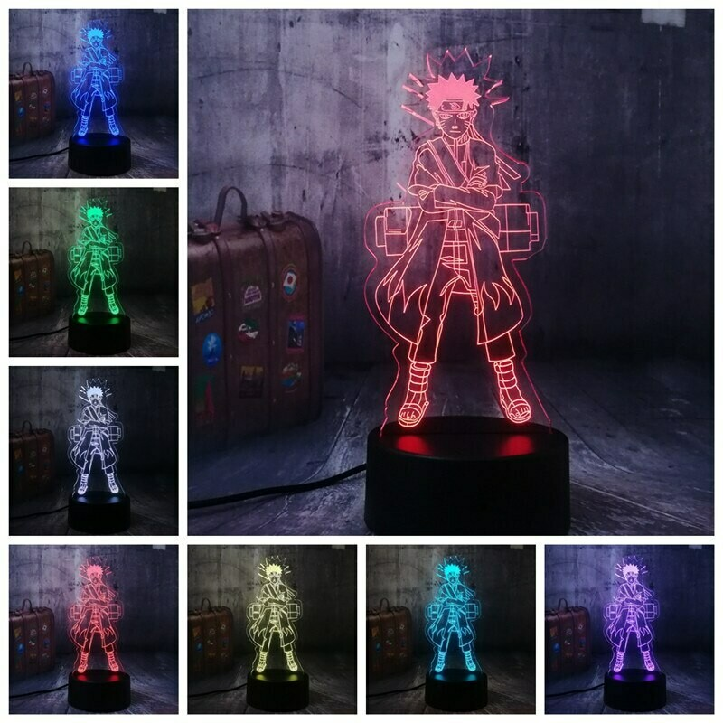 Naruto Modelling 3D Night Light Table Lamp
