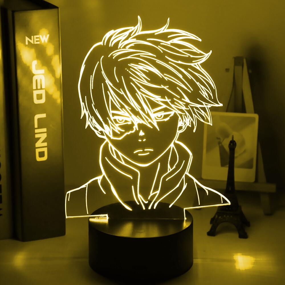 Anime My Hero Academia Shoto Todoroki Face 3D Night Light Table Lamp