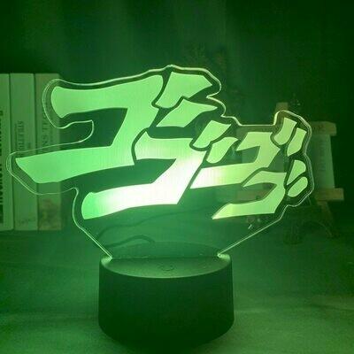 JoJo's Bizarre Adventure Logo 3D Night Light Table Lamp