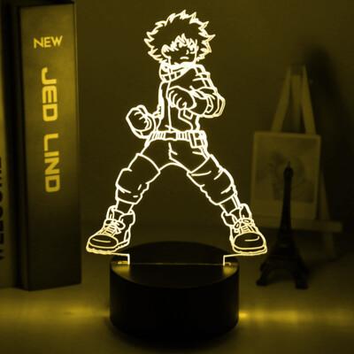 Izuku Midoriya Figure Anime My Hero Academia 3D Night Light Table Lamp