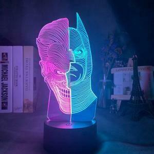 Batman And Joker Portrait 3D Night Light Table Lamp