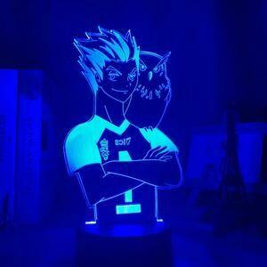 Bokuto Kōtarō Haikyuu 3D Night Light Table Lamp