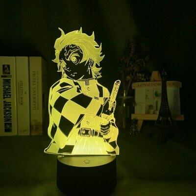 Demon Slayer Tanjiro Kamado 3D Night Light Table Lamp