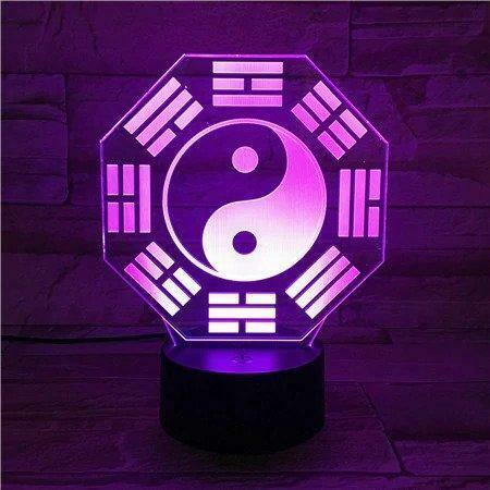 Eight Trigrams 3D Night Light Table Lamp