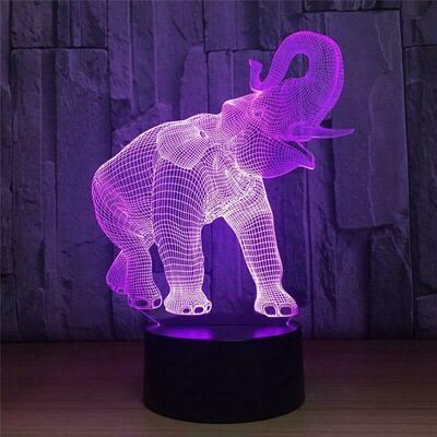 Elephant 3D Night Light Table Lamp