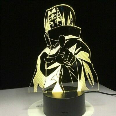 Naruto Cartoon kids Kakashi Sasuke Japanese 3D Night Light Table Lamp