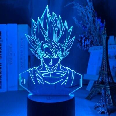 Goku Super Saiyan Portrait 3D Night Light Table Lamp