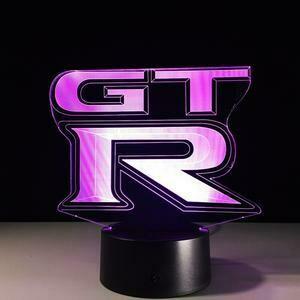 GTR Logo 3D Night Light Table Lamp