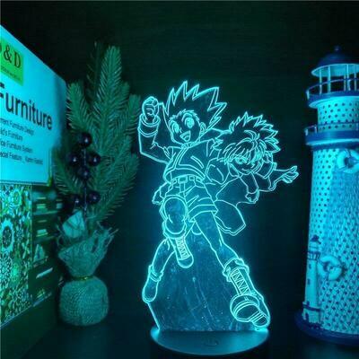 Hunter X Hunter Gon And Killua 3D Night Light Table Lamp