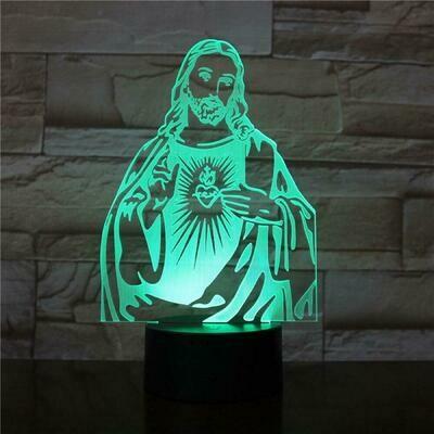 Jesus 3D Night Light Table Lamp