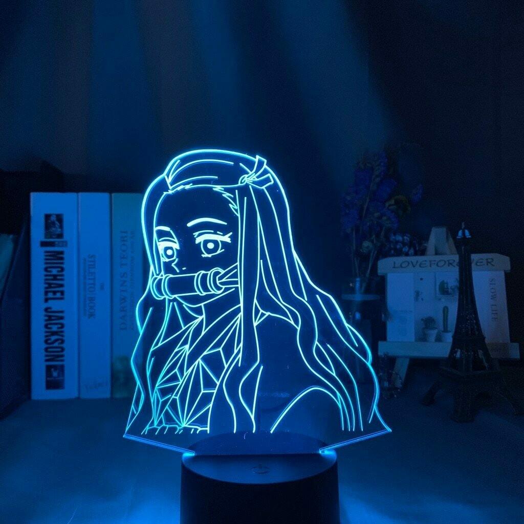 Demon Slayer Nezuko Kamado 3D Night Light Table Lamp