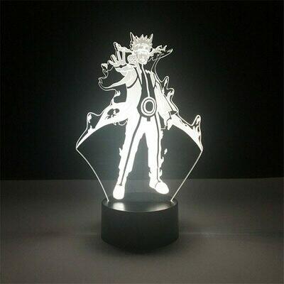 Naruto Cartoon kids Kakashi Sasuke 3D Night Light Table Lamp