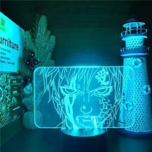 Gaara's Suffering 3D Night Light Table Lamp