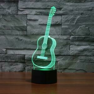 Guitar 3D Night Light Table Lamp
