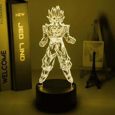 Katsuki Bakugo Figure Anime My Hero Academia 3D Night Light Table Lamp